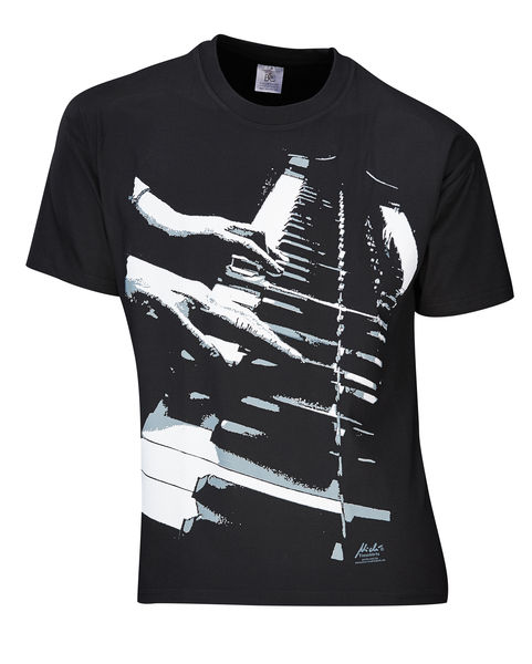 Rock You T-Shirt Piano Hands Lizenz L