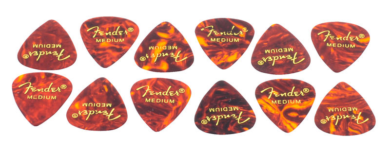 Fender Classic Celluloid Pick Shell M