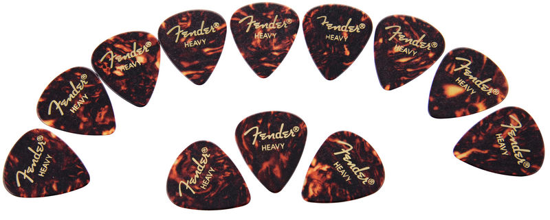 Fender Classic Celluloid Pick Shell H