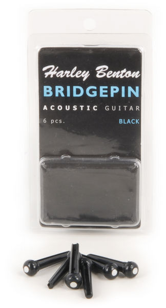 Harley Benton Bridge Pin Set Black Dot