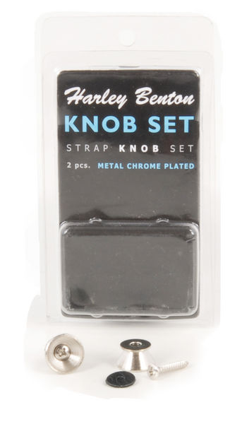 Harley Benton Strap Knob Set Chrome
