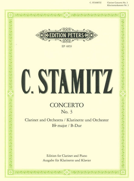 Edition Peters Stamitz Konzert Nr. 3 B-Dur Cl