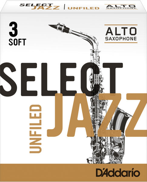 D'Addario Woodwinds 3S Select Jazz Unfiled Alto