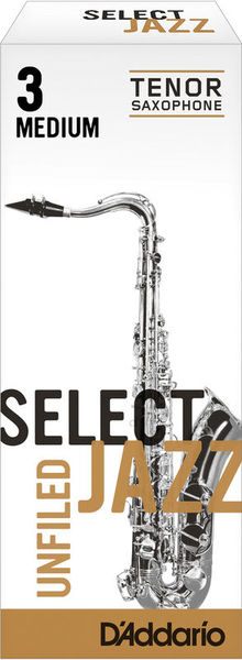 D'Addario Woodwinds 3M Select Jazz Unfiled Tenor