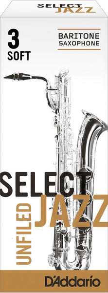 D'Addario Woodwinds 3S Select Jazz Unfiled Bariton