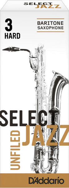D'Addario Woodwinds 3H Select Jazz Unfiled Bariton