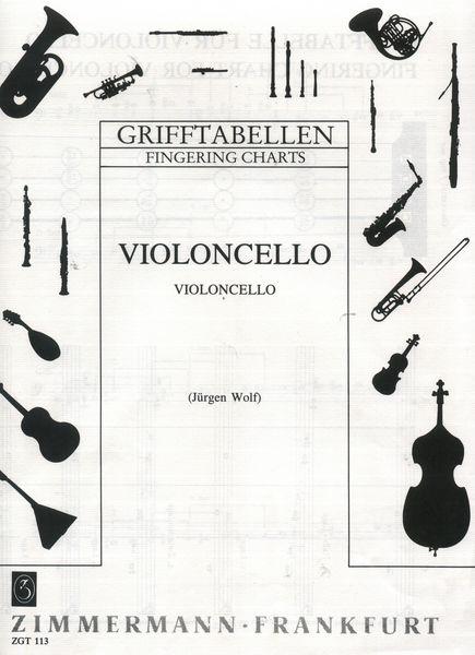 Zimmermann Verlag Grifftabelle Violoncello