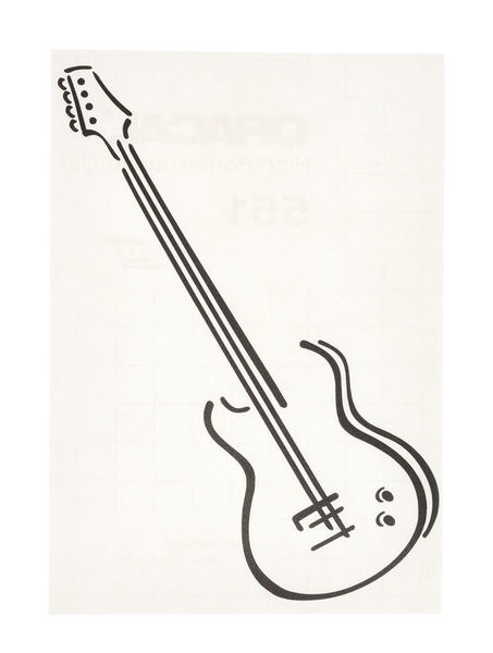Design-Studio Worms Sticker Bass Guitar Anthracite