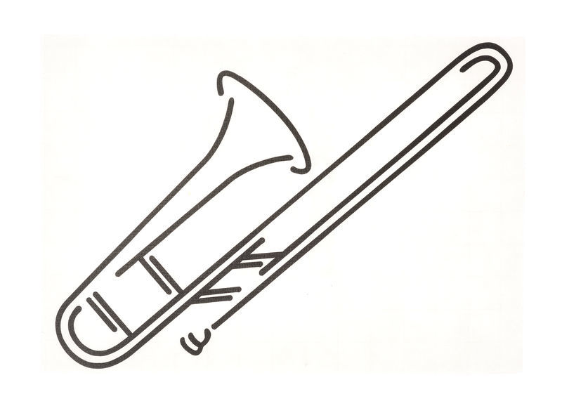 Design-Studio Worms Sticker Trombone Anthracite