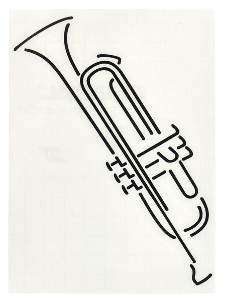 Design-Studio Worms Sticker Trumpet Anthracite