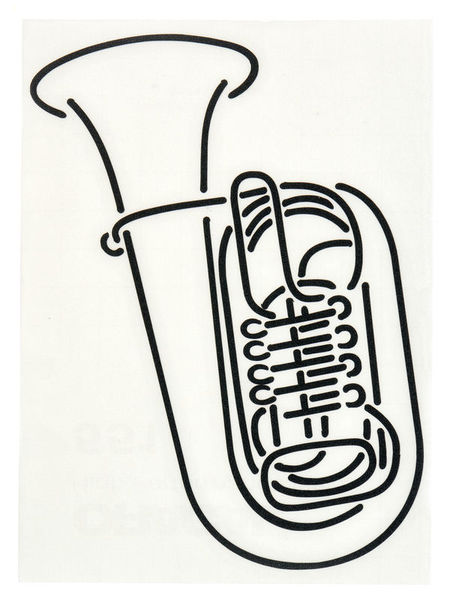Design-Studio Worms Sticker Tuba Anthracite