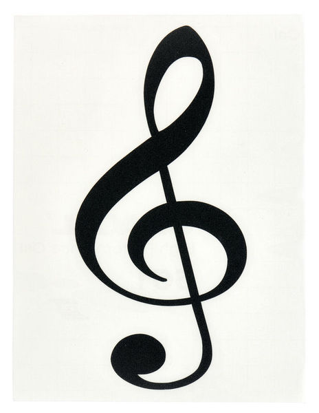 Design-Studio Worms Sticker Treble Clef 2 Anth.