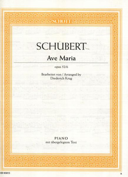 Schott Schubert Ave Maria