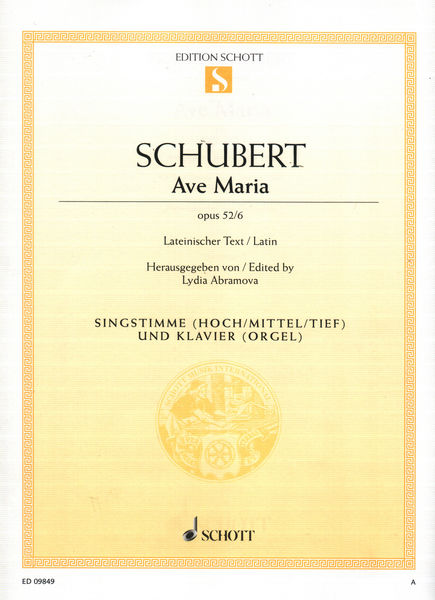 Schott Schubert Ave Maria Vocal