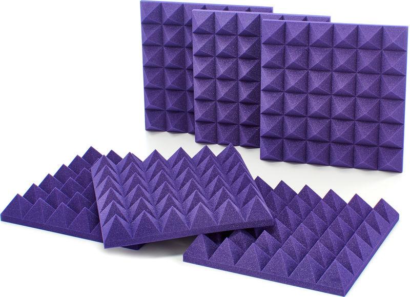 "Auralex Acoustics 4"" Studiofoam Pyramids Purple"