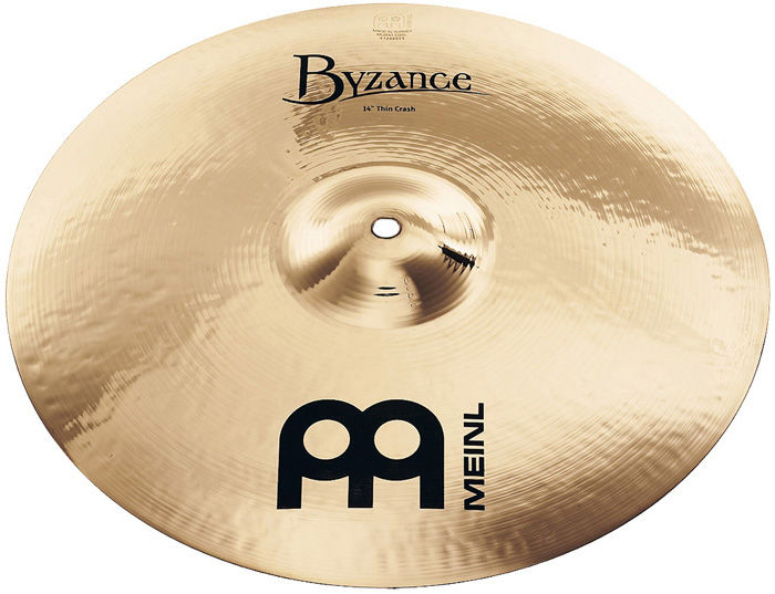 "Meinl 14"" Byzance Thin Crash Brill."