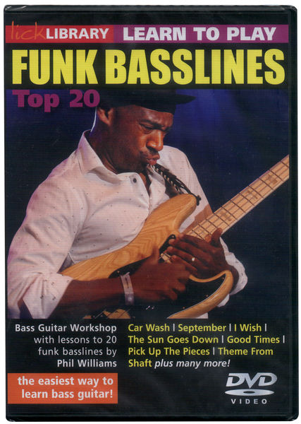 Music Sales Learn To Play Funk Bass DVD