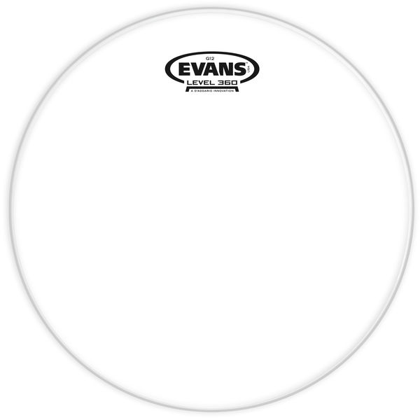 "Evans 12"" G12 Clear TomTom"