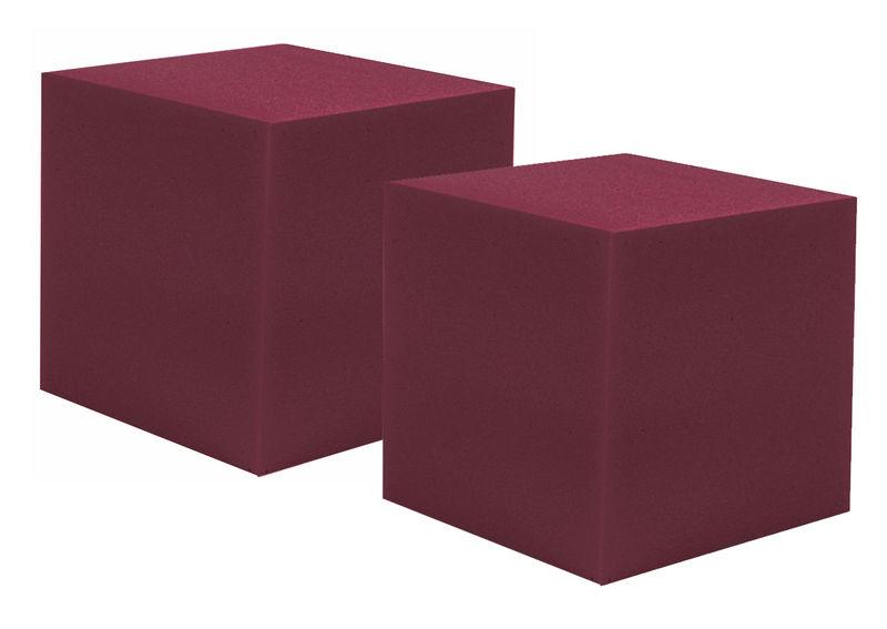 """Auralex Acoustics 12"""" CornerFill Cubes Burgundy"""