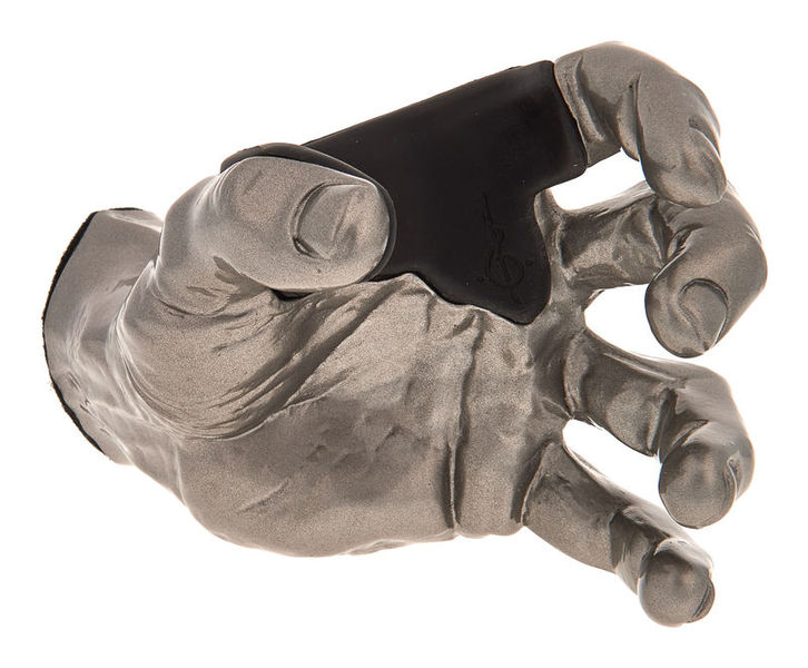 Guitar Grip Silver Metallic Male Hand left