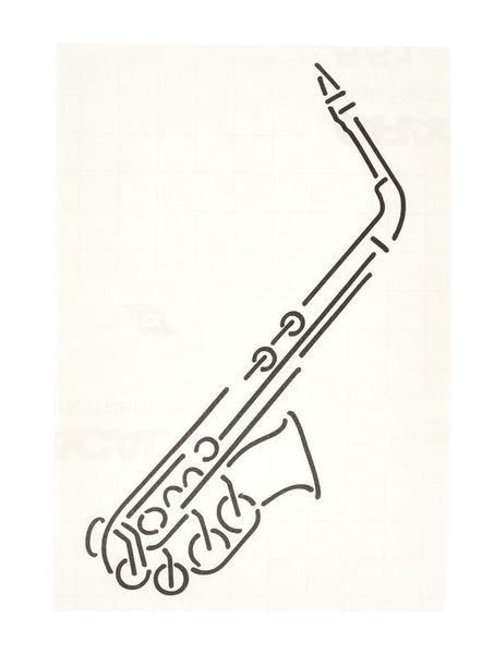 Design-Studio Worms Sticker Alto Sax Anthracite