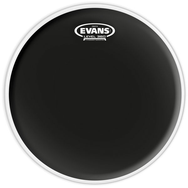 "Evans B14ONX2 14"" Drum Head Onyx BK"