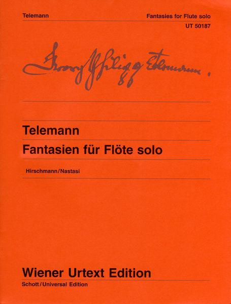 Universal Edition Telemann Fantasien f.Flöte