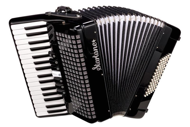 Piano Accordion 72 Black Startone