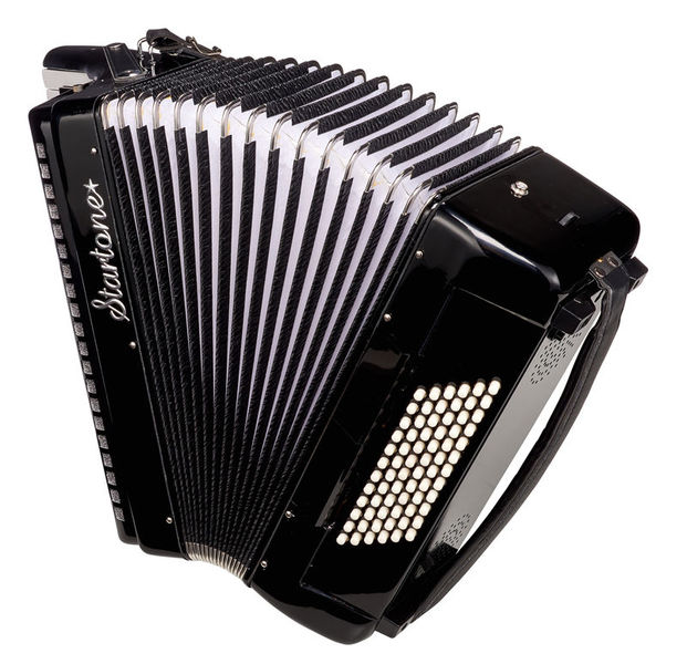 Piano Accordion 72 Black Startone