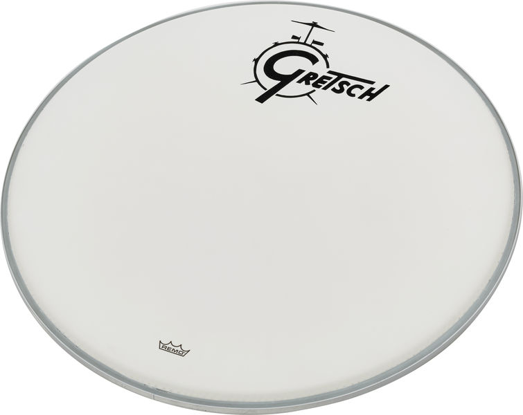 "Gretsch 20"" Bass Drum Head WH w/Logo"