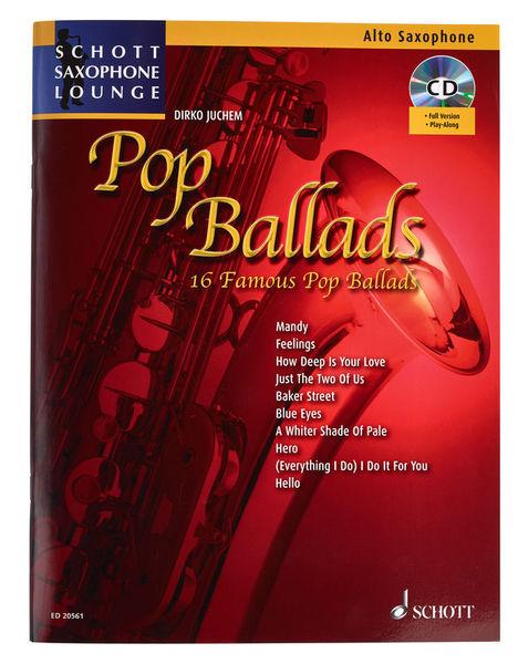 Schott Pop Ballads für Altsaxophon
