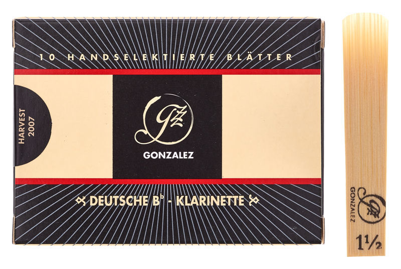 Gonzalez Clarinet 1,5 Reed German