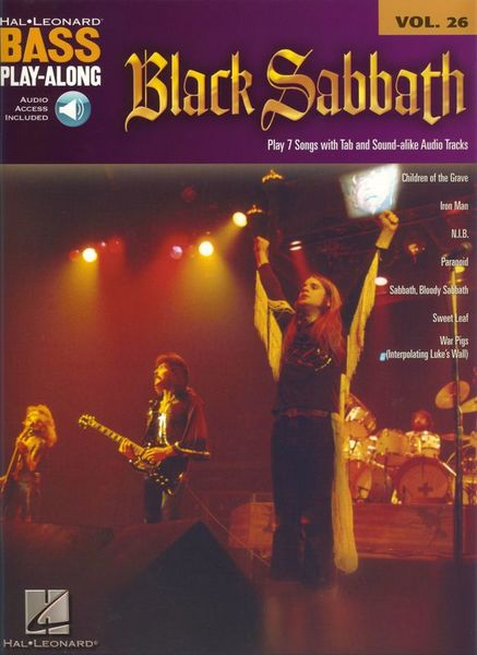 Hal Leonard Black Sabbath Bass Play-Along