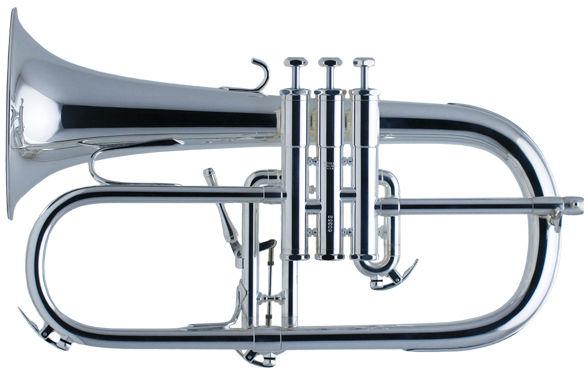 Schilke Bb- Flugelhorn silver plated
