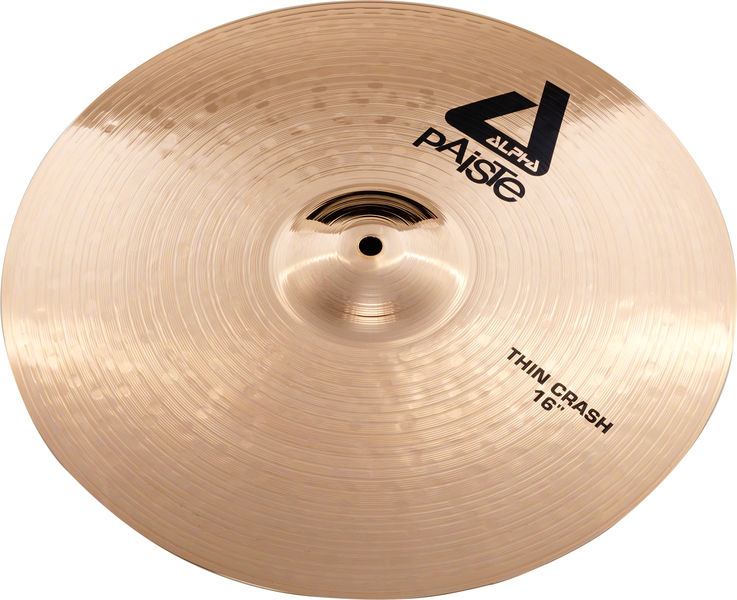 "Paiste 16"" Alpha Thin Crash Brill."