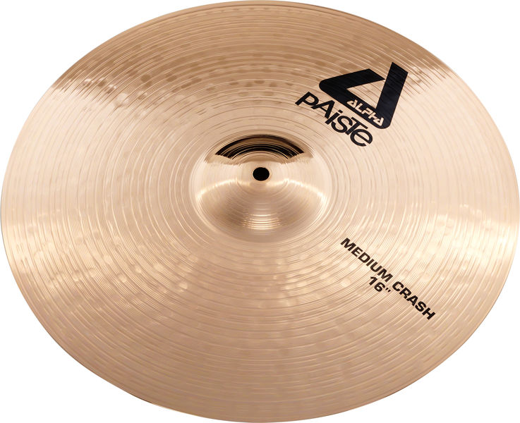 "Paiste 16"" Alpha Medium Crash Brill."
