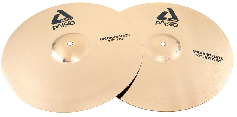 "Paiste 14"" Alpha Medium Hi-Hat Brill."