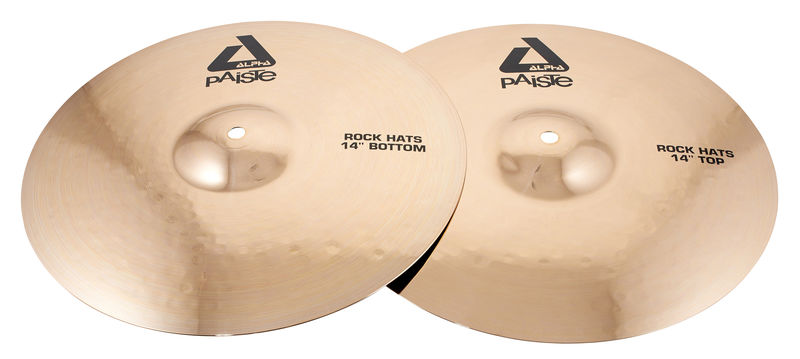 "Paiste 14"" Alpha Rock Hi-Hat Brill."