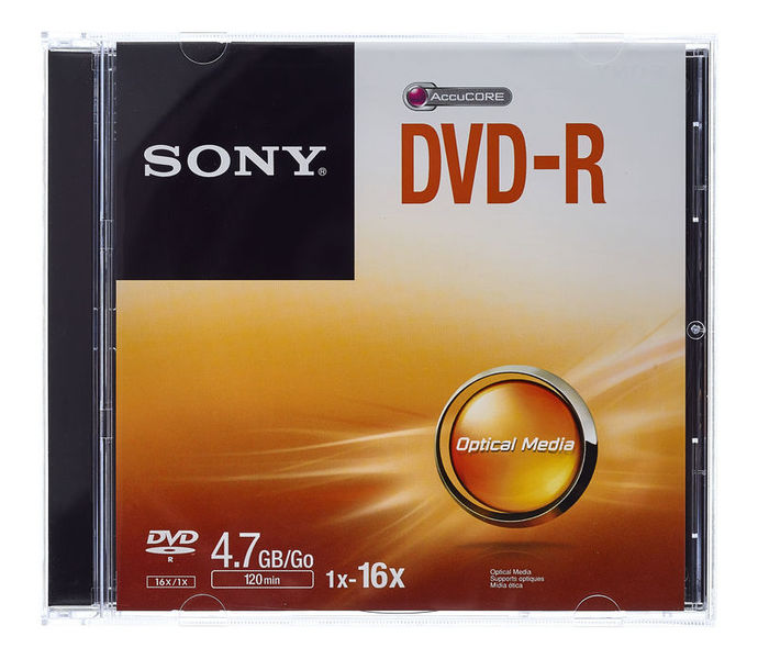 Sony DMR47 DVD-R Jewel Case