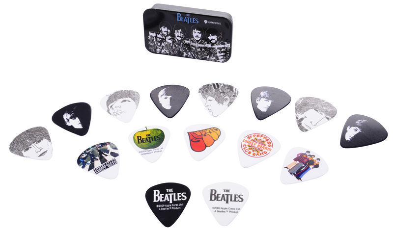 15 picks Logo Planet Waves Beatles Signature Guitar Pick Tins