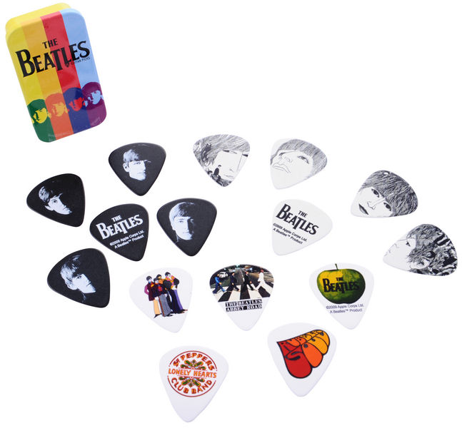 Planet Waves Beatles Stripes Pick box