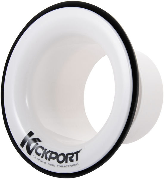 Kick Port Bass Drum Insert Booster White
