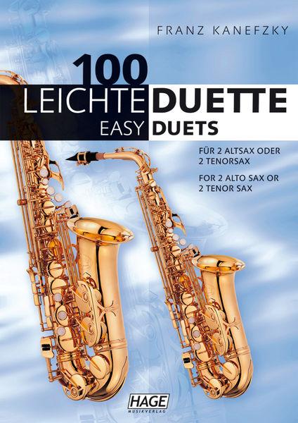 100 Leichte Duette Saxophon Hage Musikverlag