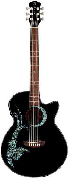 Luna Guitars Fauna Phoenix BK