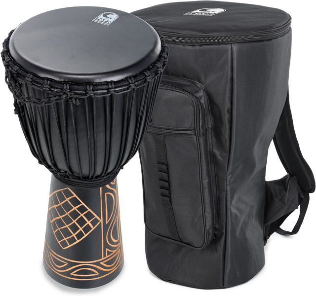 "Toca 12"" Black Mamba Djembe Set"