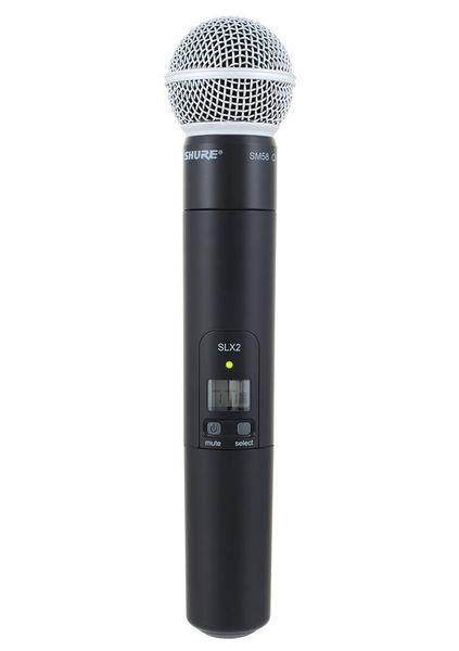 Shure SLX 2 / SM 58 / P4