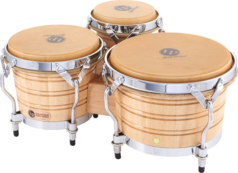 LP 202AW Triple Bongo Set