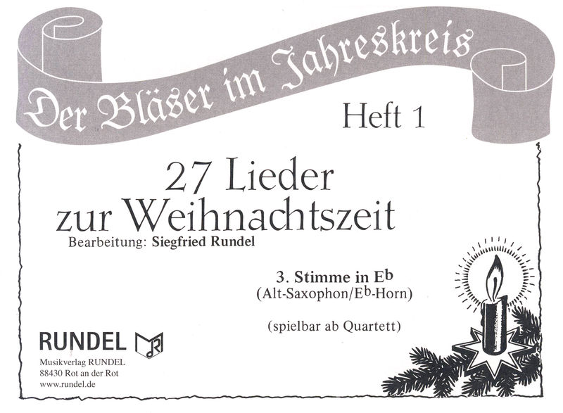 Musikverlag Rundel 27 Lieder Weihnacht 3 Eb