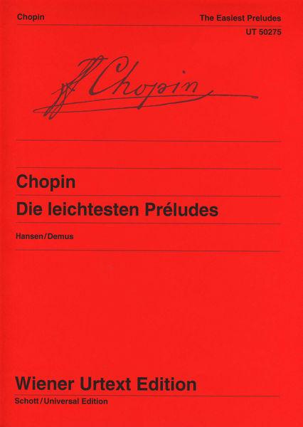 Universal Edition Chopin Die leichtesten Prelude