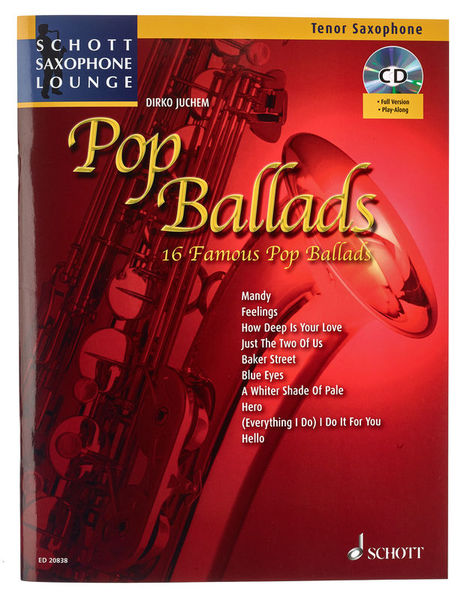 Schott Pop Ballads for Tenorsax